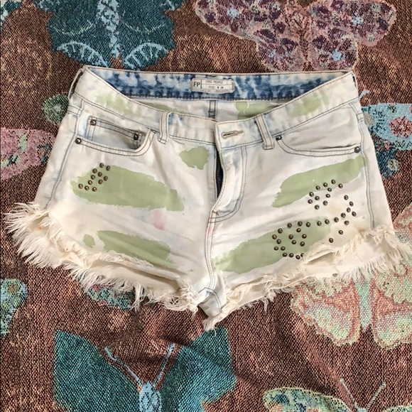Free People Pants - Free people denim cargo shorts